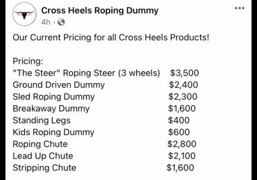 Cross Heels Roping Supplies