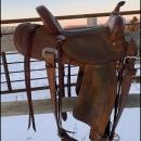 Lazy L Barrel Saddle by Larry Coats