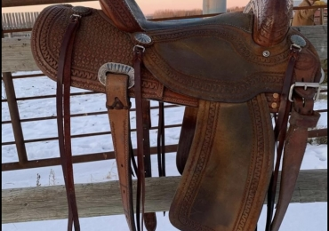Lazy L Barrel Saddle by Larry Coats